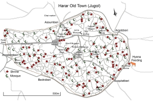 Jugol Map with shrines and mosques